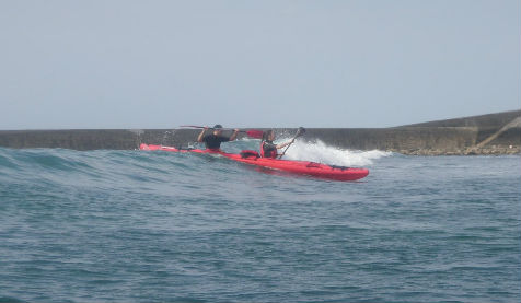 kayak de mer sécurité et gros temps