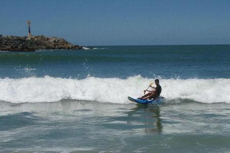 kayak surf au pays basque avec nckd