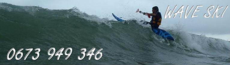 wave ski kayak surf pays basque surfer en kayak surf sur les spots de la cote basque